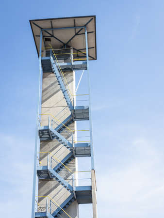 modern lookout tower - low angle view Stock Photo - 18735114