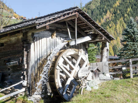 watermill: old watermill at a farm Stock Photo