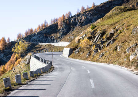 curve at the european alps Stock Photo - 18797178