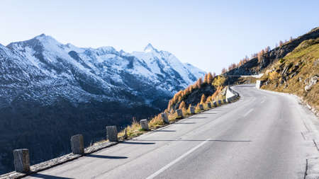 curve at the european alps Stock Photo - 18935783