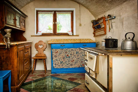 old kitchen at a farm in friesland photo