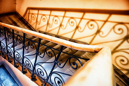 staircase: old staircase at a historic building