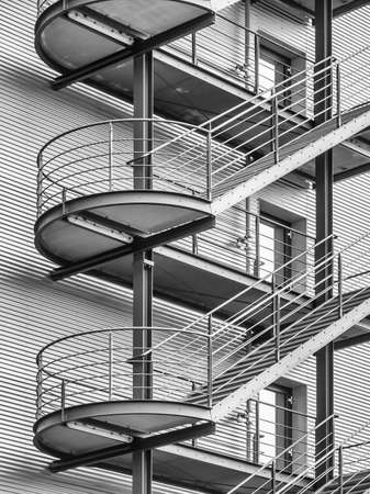 man made structure: fire escape at an office building Stock Photo