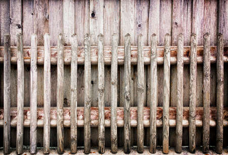 picket fence: old wooden picket fence - photo Stock Photo