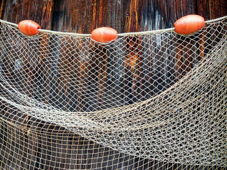 fishing net: fishing net at an old port Stock Photo