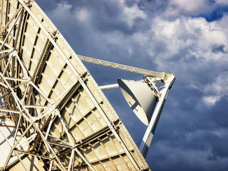 radio telescope: modern radio telescope - satelite dish Stock Photo