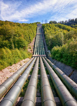 pipeline at a valley - photo photo