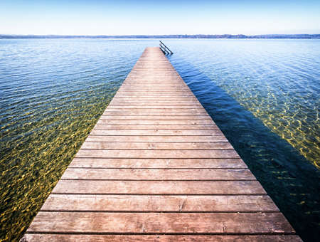 old wooden jetty photo