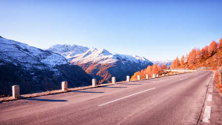 curve at the european alps Stock Photo - 20167703