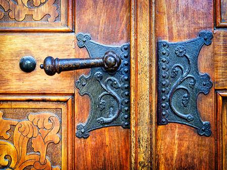 beautiful old doorknob - close up Stock Photo