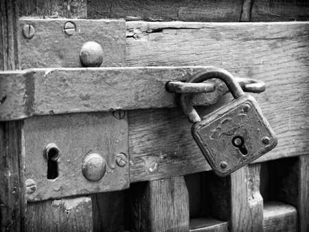 beautiful old padlock - close-up photo