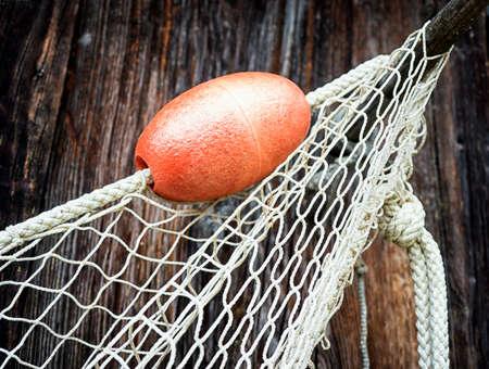 fishing net: fishing net at an old port Stock Photo