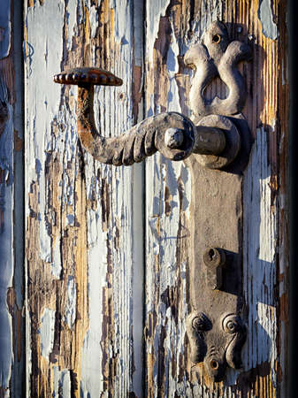 beautiful old doorknob - close up photo