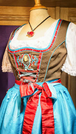 tracht: part of a typical bavarian dirndl