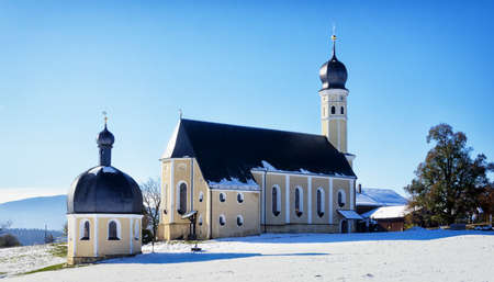 small bavarian chapel and church near rosenheim photo