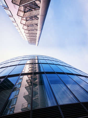 unusual angle: modern office tower - unusual angle Stock Photo