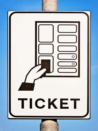 parkticket sign at a parking automat photo
