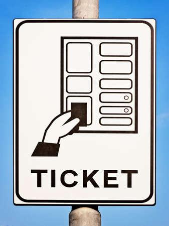 automat: parkticket sign at a parking automat
