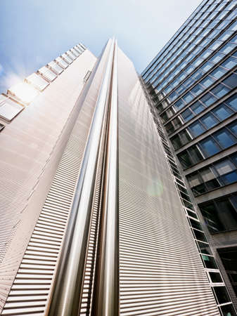 unusual angle: modern office tower - unusual angle Editorial