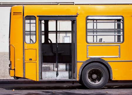 italian bus at a station photo