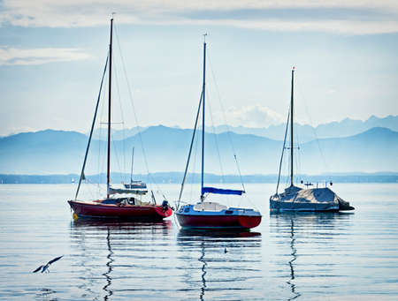 starnberger see: sailboats at the european alps