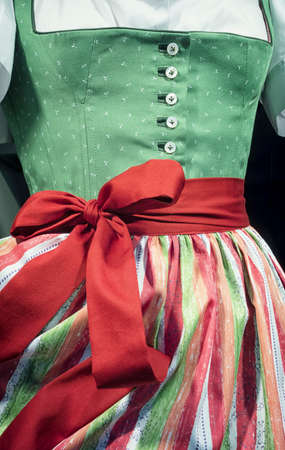 specific clothing: part of a typical bavarian dirndl