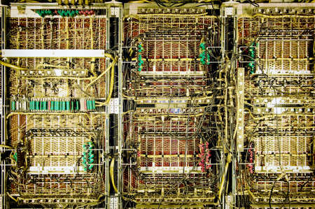 circuit boards of an old dataprocessing machine photo