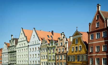 landshut: historic facades at landshut  bavaria