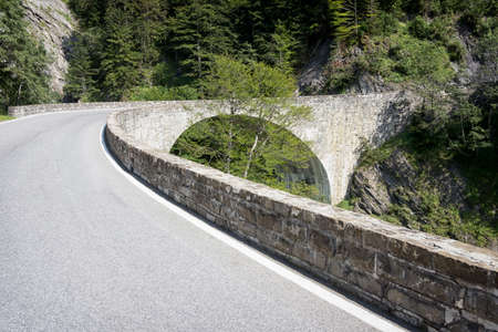 country road at the alps photo