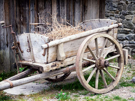 old cart at a farm photo