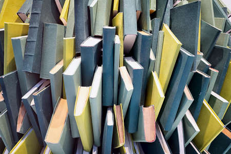 heap of blank books - chaos Stock Photo