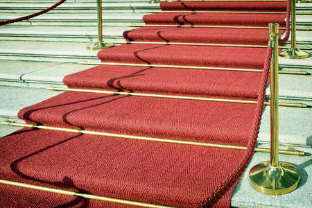 clean carpet: red carpet at a staircase - nice background