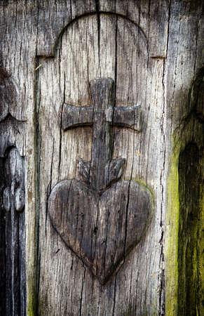 simbolo della pace: bello ornamento in un antico lapide Archivio Fotografico
