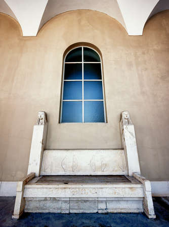 architrave: old arch at a church