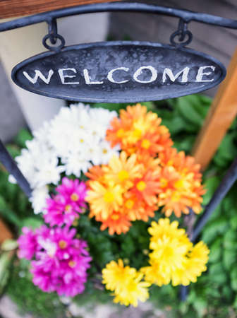 old fashioned welcome sign - photo photo