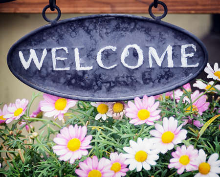 old fashioned welcome sign - photo Stock Photo - 24299617
