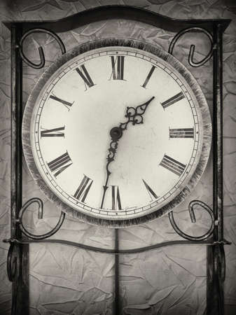 old antique clock - close up photo