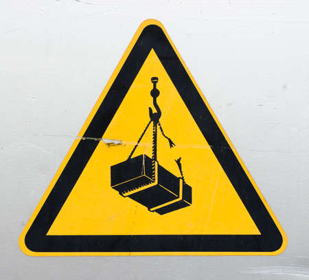 overhead crane: Warning sign for cranes