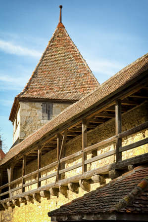 fortified: old Fortified Wall in rothenburg,franken Stock Photo