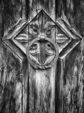 doorknocker: old doorknocker at a historic building Stock Photo