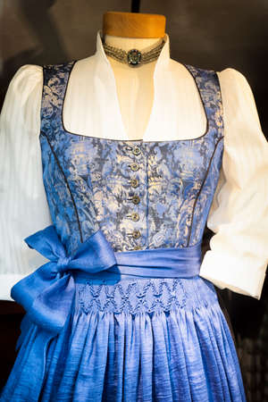 part of a typical bavarian dirndl