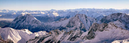 european alps in winter - zugspitze photo