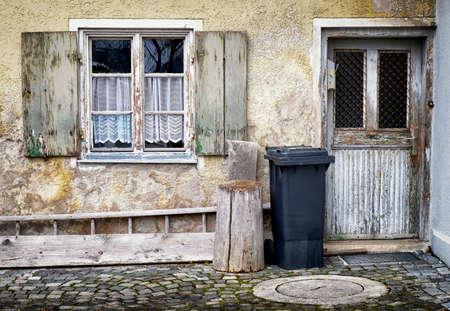 old run-down facade - ruin photo