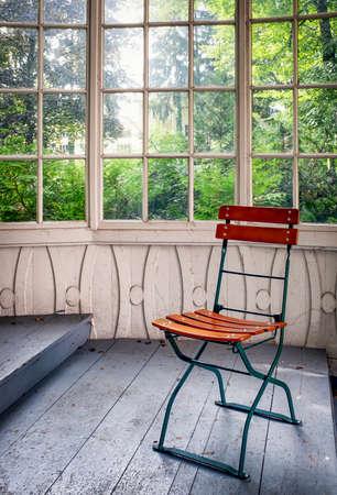 old wooden winter garden - nice background Stock Photo - 25183420
