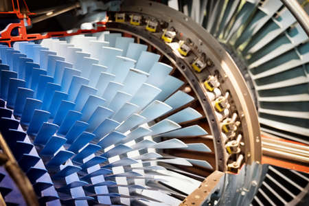 shovels of a turbine - nice background Standard-Bild
