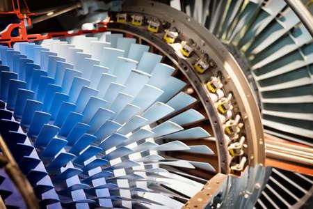 shovels of a turbine - nice background Stock Photo