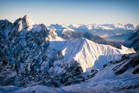 european alps in winter - zugspitze photo