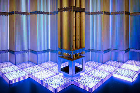 model of a nuclear power station Stok Fotoğraf