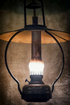 oillamp: petroleum lamp  at a stable