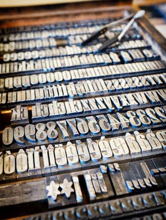 letter case: old letter case - type case